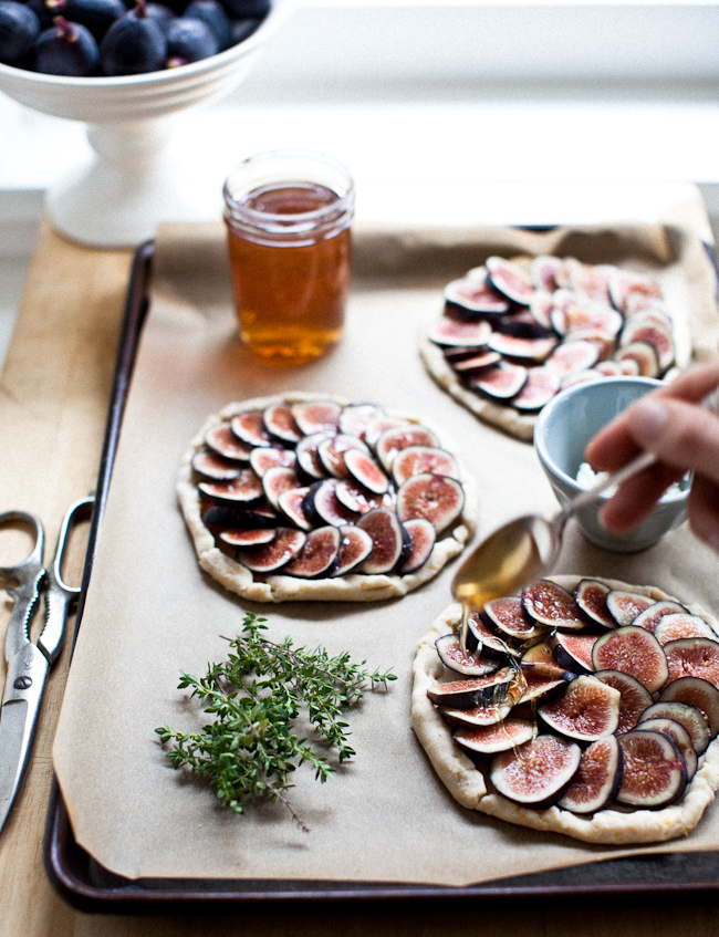 Erin Scott's fig tartlets with herbs and honey.