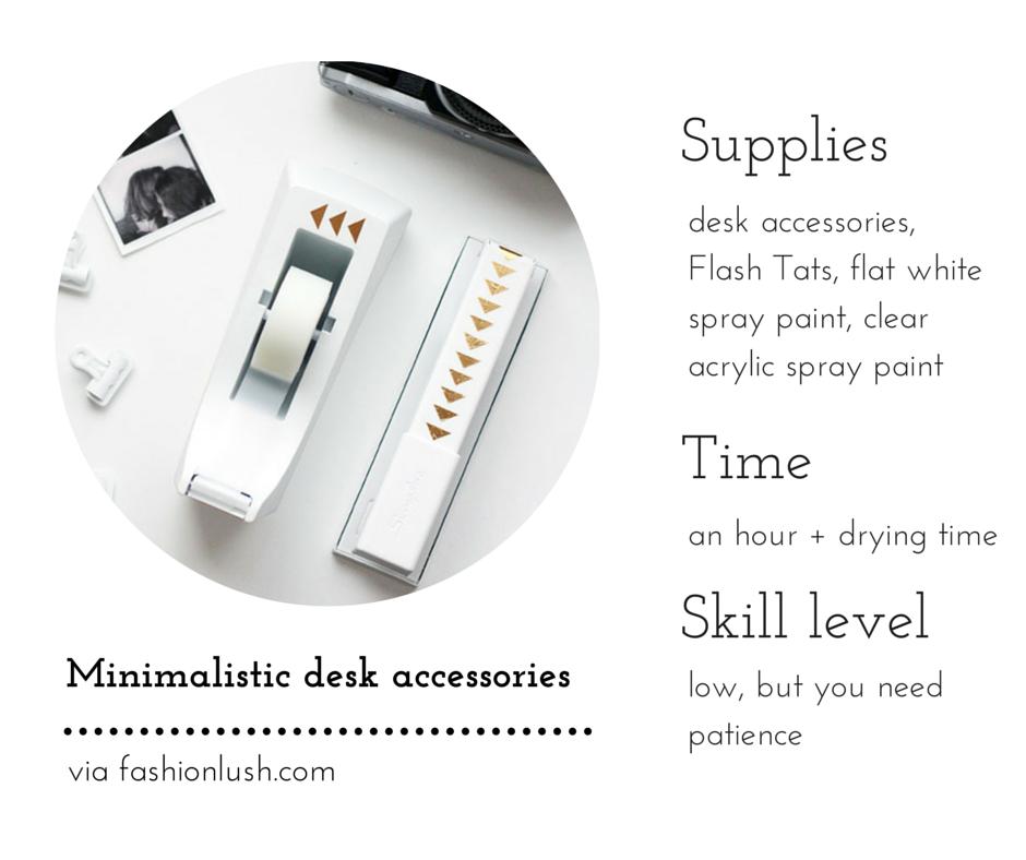 Minimalistic desk accessories