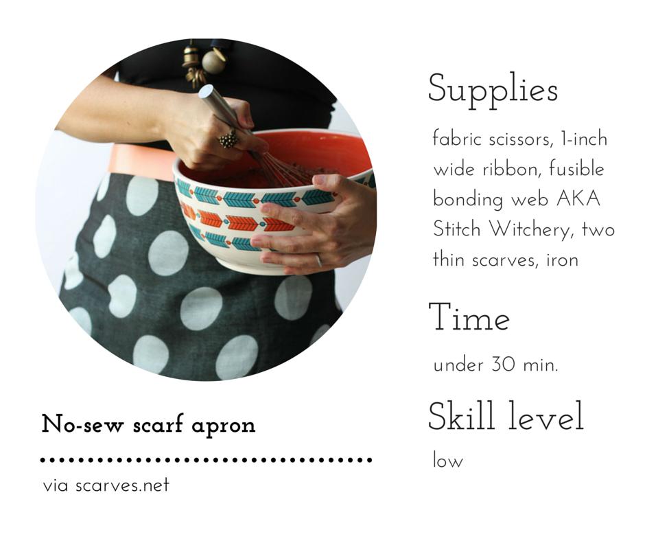 No-sew scarf apron