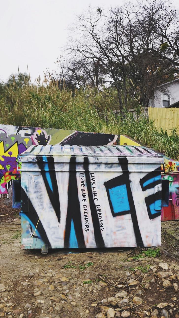 Graffiti Park, Austin | www.paperplatesblog.com