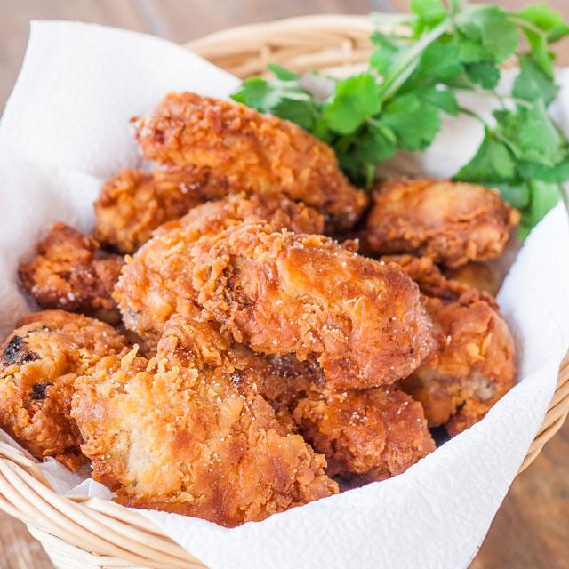 Buttermilk-fried chicken via Jo Cooks