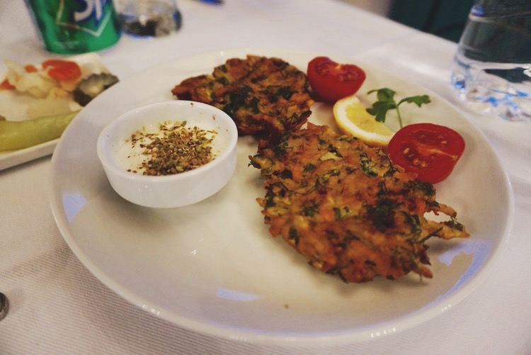 Vegetable fritters as part of a homecooked meal at Osmanli Manor Hotel. I forgot to photograph the main course.
