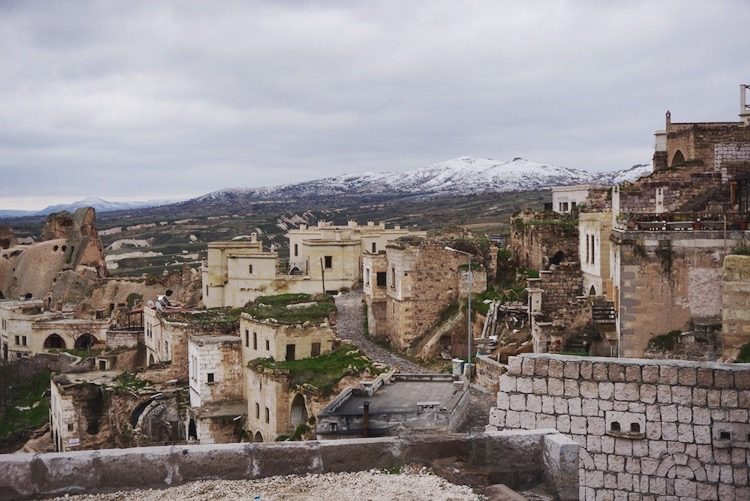 The village of Uchisar, Cappadocia, Turkey   www.paperplatesblog.com