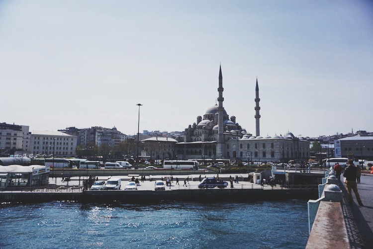 Istanbul's New Mosque, viewed from the Galata Bridge. | www.paperplatesblog.com