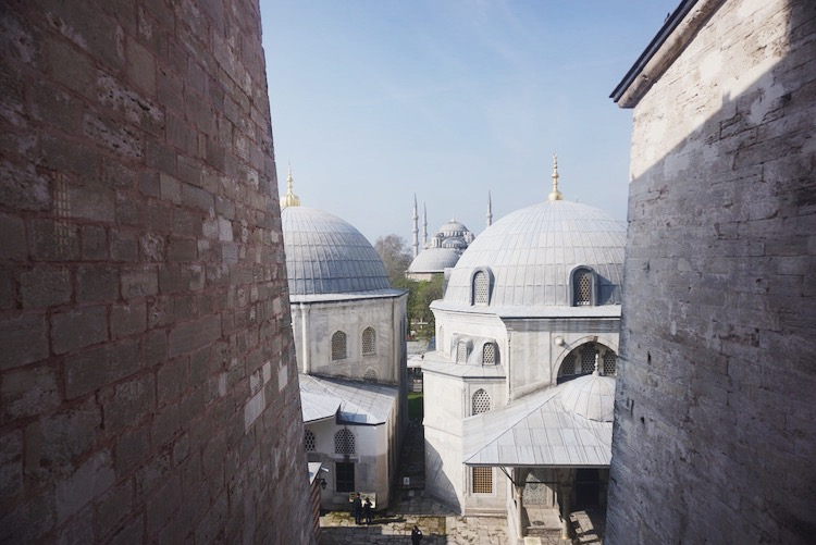 A view of the Blue Mosque from a Hagia Sofia window | www.paperplatesblog.com