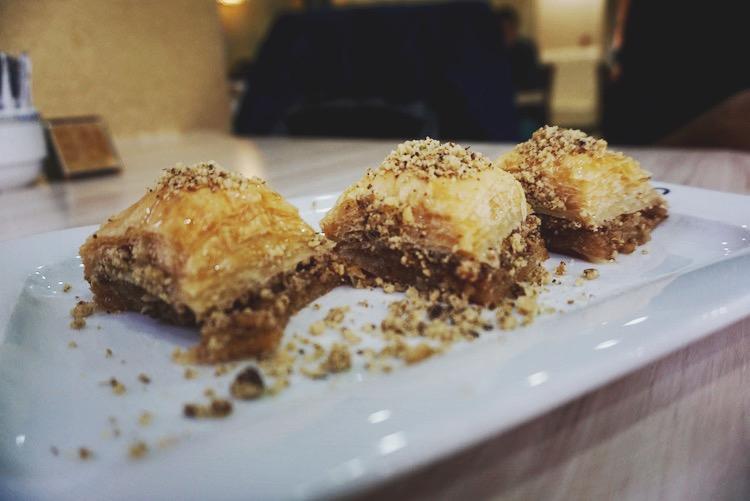 Istanbul food diary - baklava at Mado