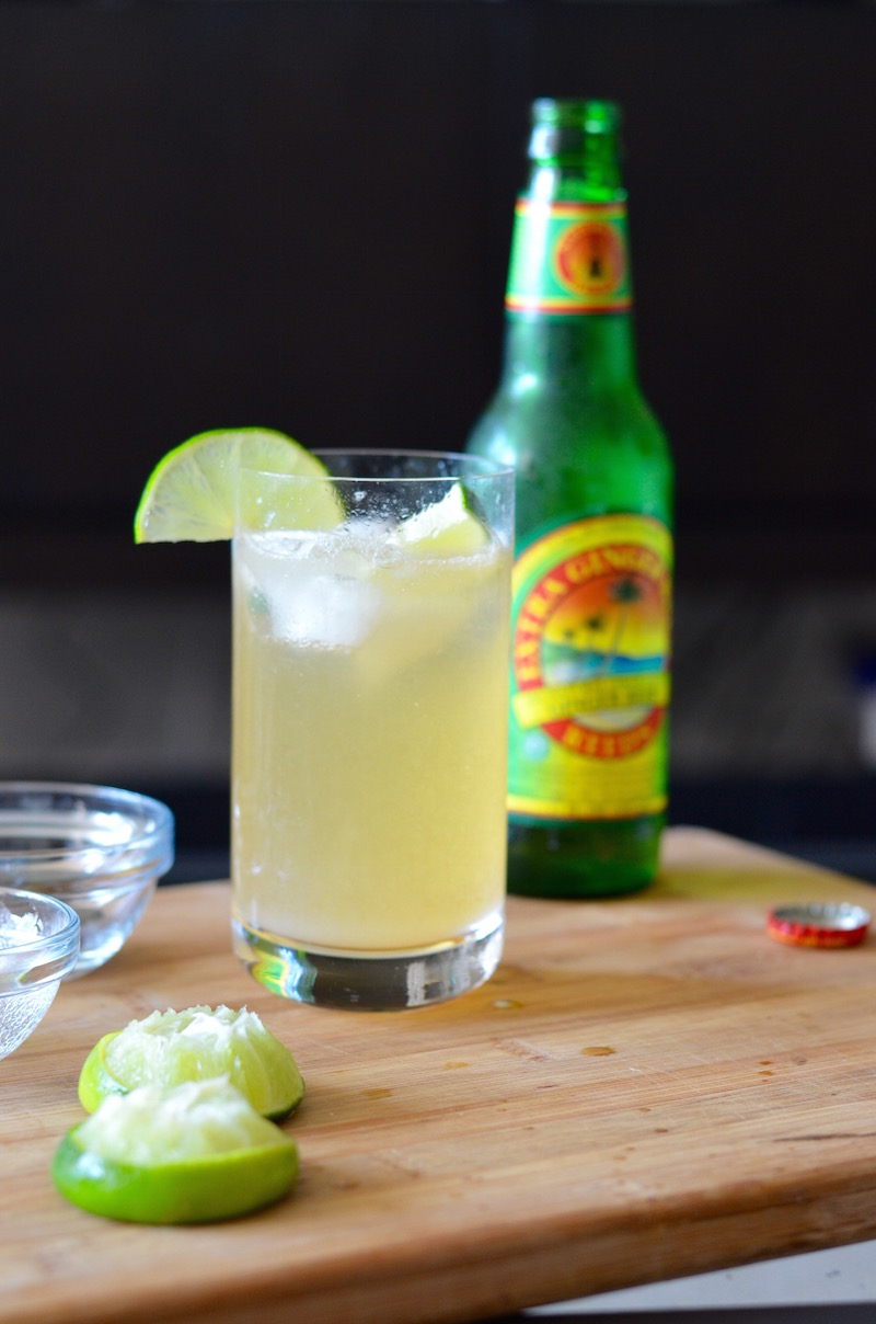 How to make a ginger beer lime shandy — mocktail recipe | www.paperplatesblog.com
