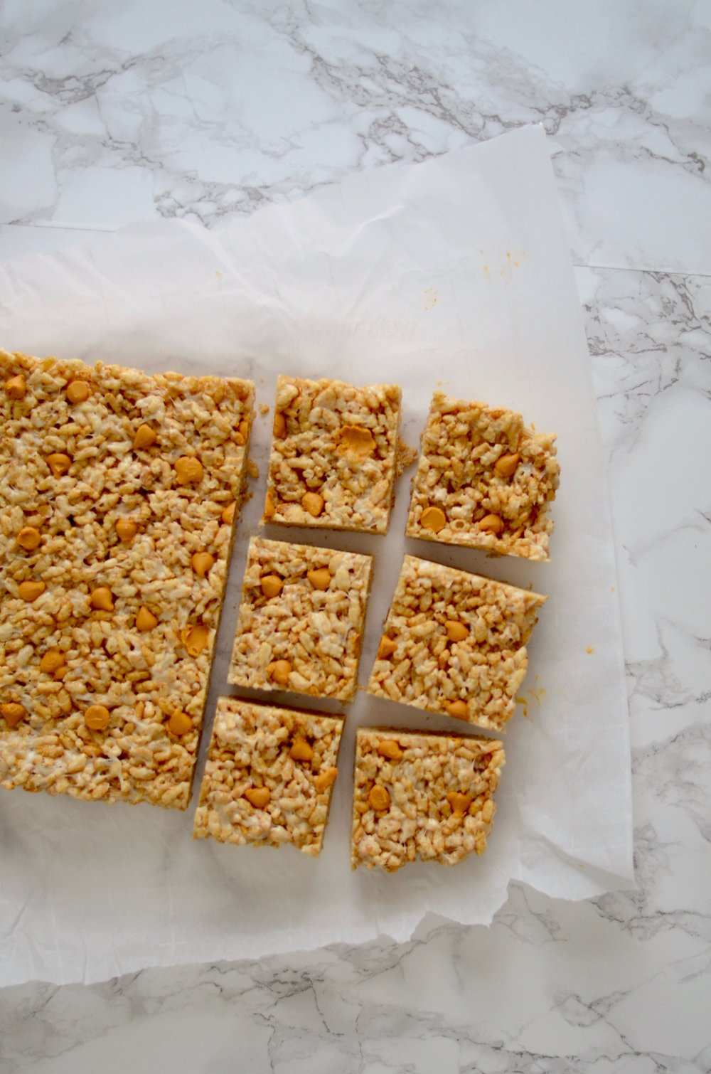 Harry Potter-inspired butterscotch rice crispy squares