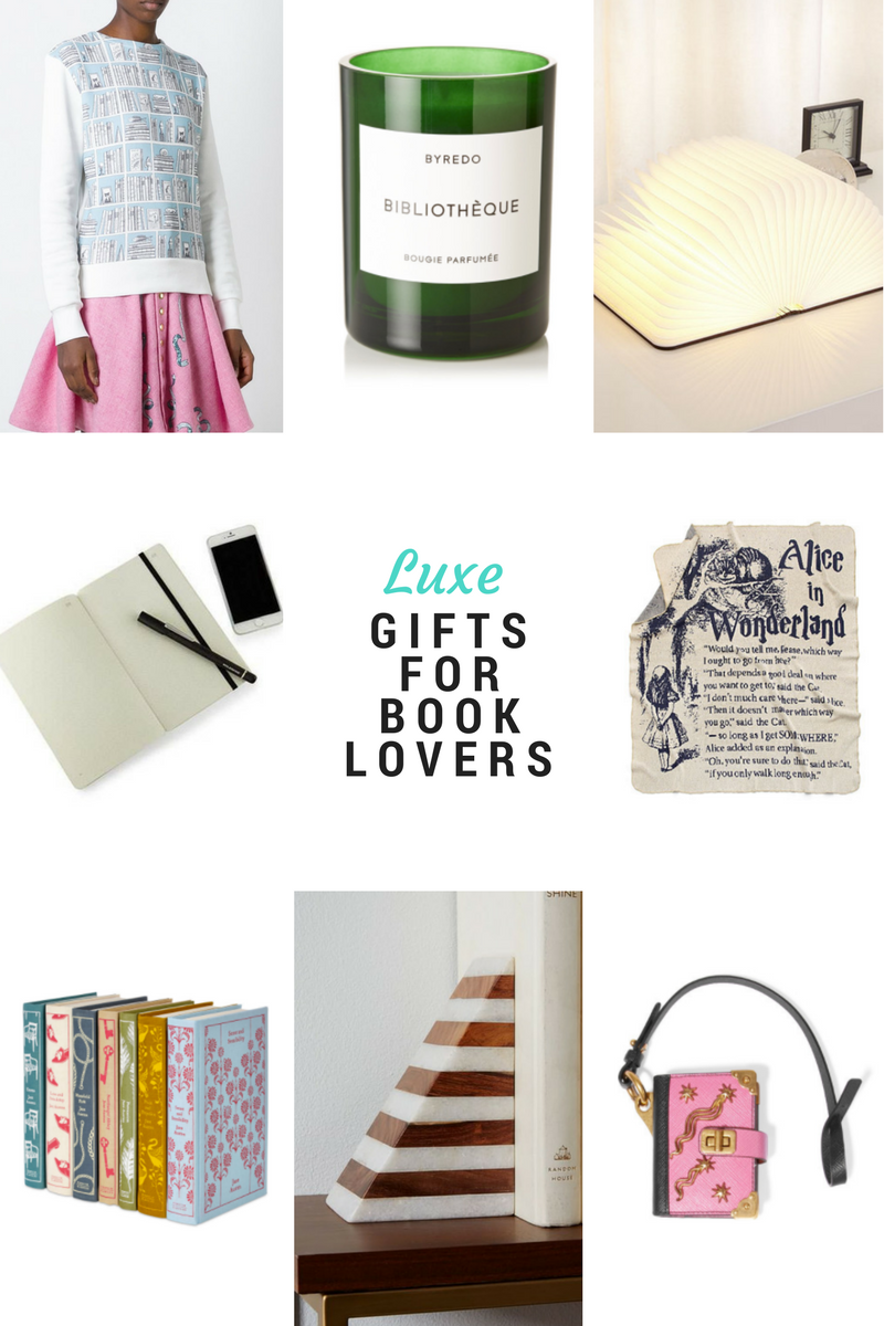 8 luxe gifts for book lovers 2016 via @paperplatesblog