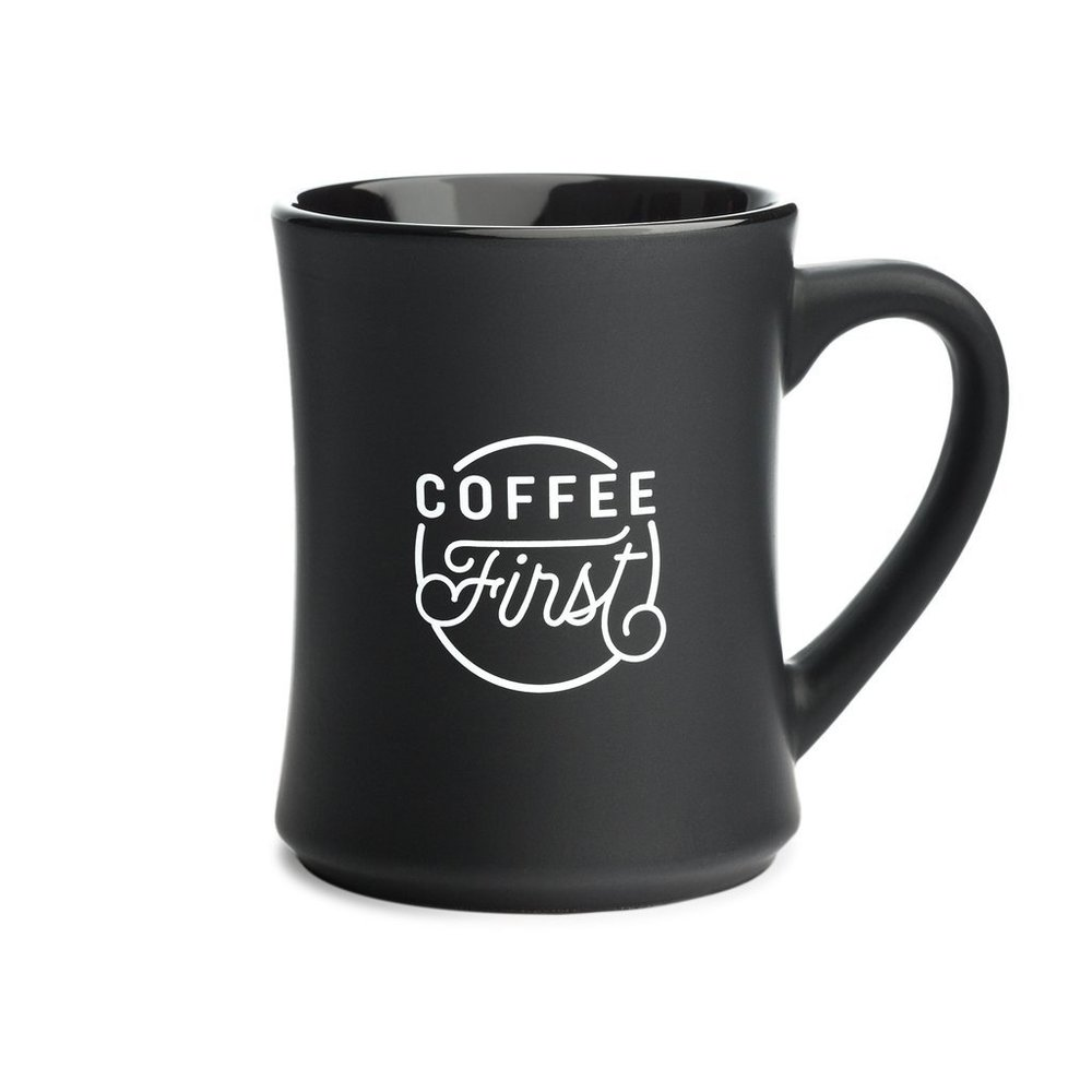 "Redemption Market ""Coffee First"" mug benefiting Charity: Water"