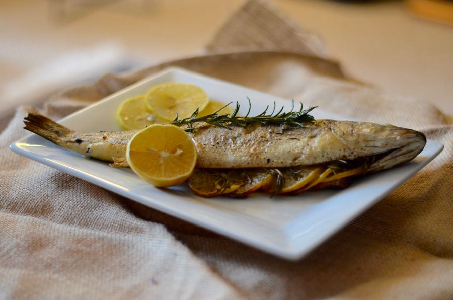 "Literary recipe: Pan-roasted branzino inspired by ""California"""