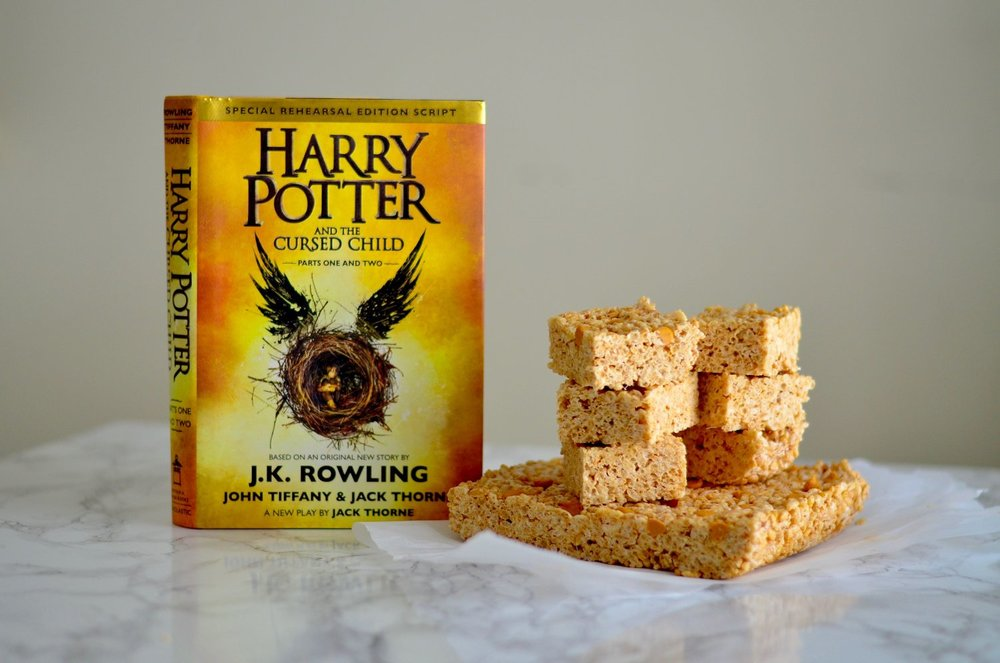 "Literary recipe: Butterscotch rice crispy squares inspired by ""Harry Potter and the Cursed Child"""