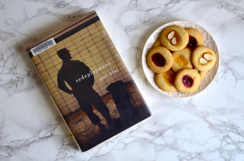 "Literary recipe: Mini thumbprint cookies inspired by ""Redeployment"""