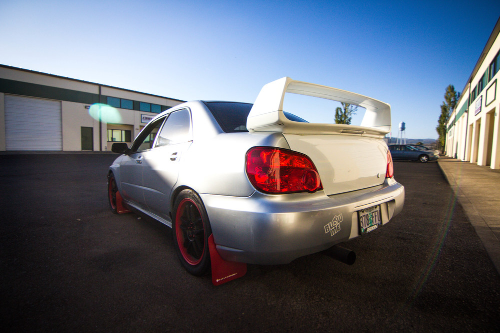 Subaru WRX Solar Guarded up & Tail light Tinted Window Tint: 20% all around
