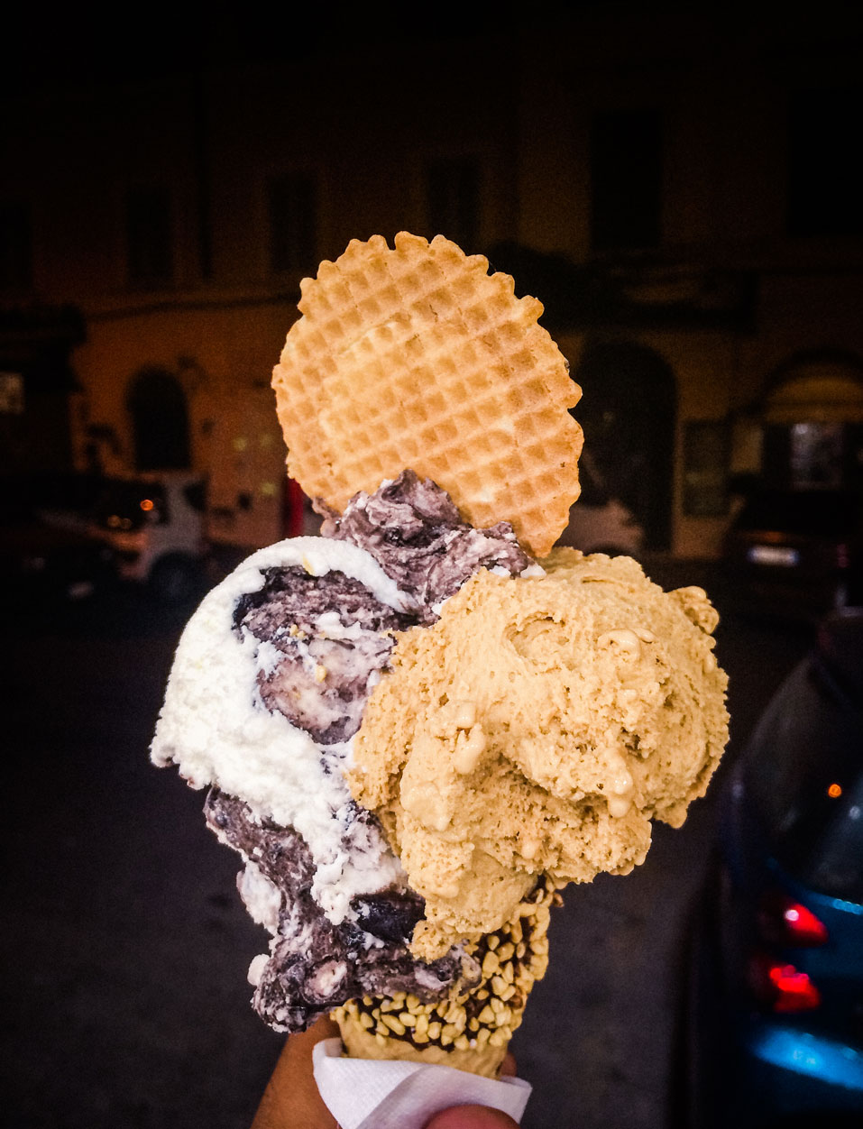 Rome gelato game on point. Texture, dimension, depth.
