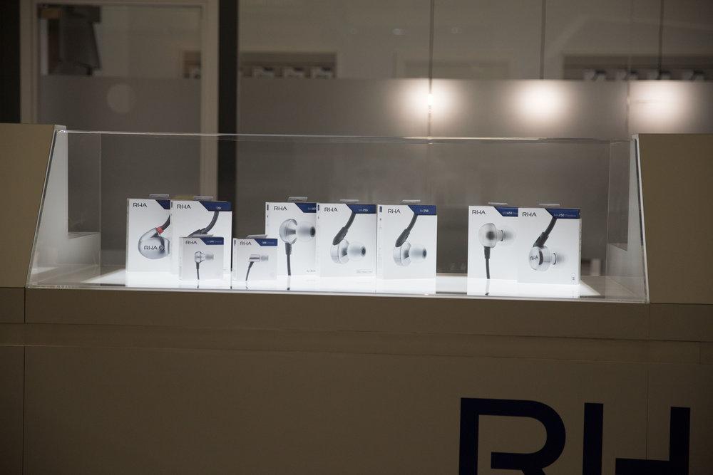 The RHA 2017 range: T20, T20i, MA390 Universal, S500 Universal, MA650, MA750i, MA750, MA650 Wireless and MA750 Wireless.