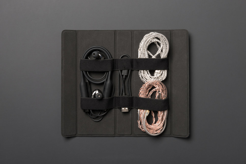 RHA CL2 Planar cables and headphone in protector case.jpg