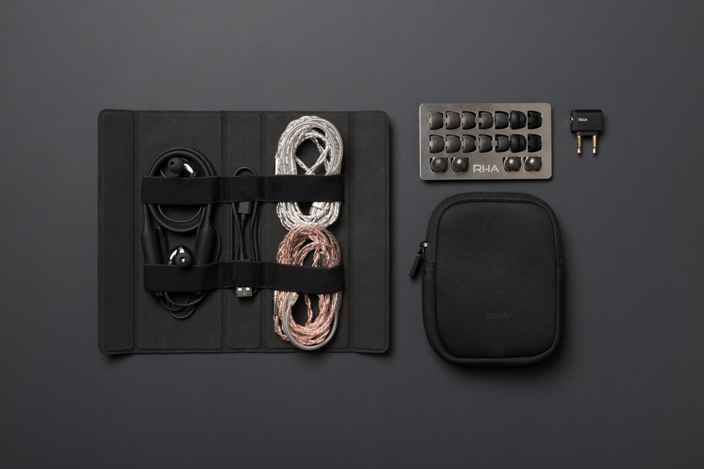 RHA CL2 Planar in protector case with cables and accessories.jpg