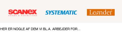Scanex, Systematic, Leander - Kunder hos BYG & DESIGN snedkerfirma i Silkeborg, Midtjylland