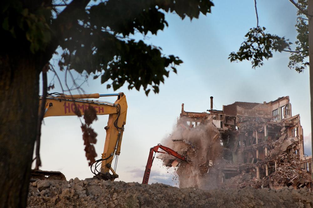 Demolition of Cass Tech