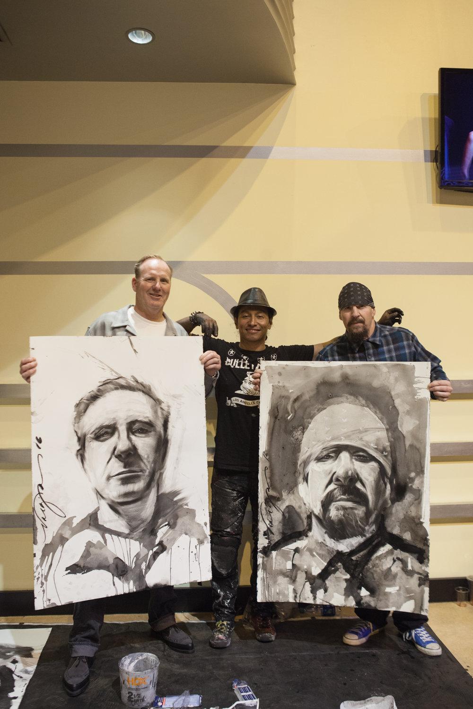 Robert Vargas with Jim and Mike Muir