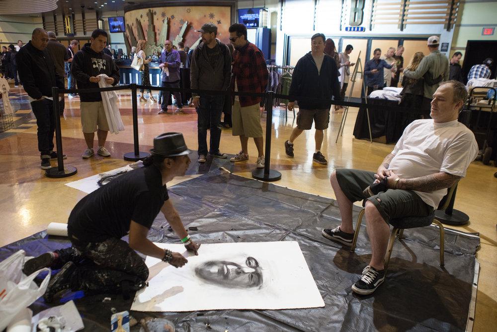 Robert Vargas draws Jeff Grosso