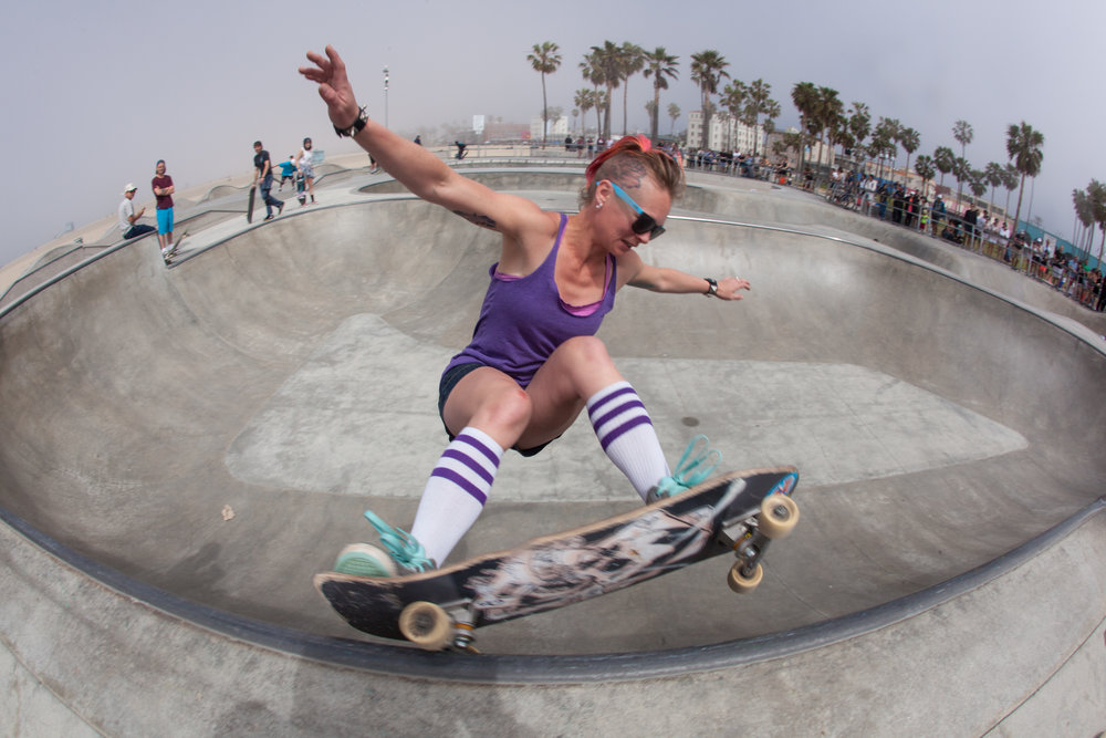 Collette Slash  LA Girls Skate Sesh | Venice Beach
