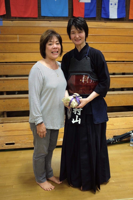 Gayle with Murayama sensei.  Photo by Shishido.