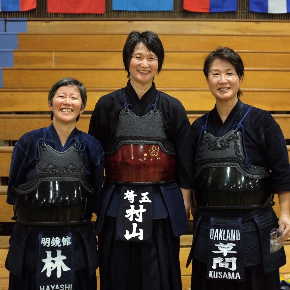 Reiko, Murayama sensei, Kusama (Oakland).  Photo by Shishido.