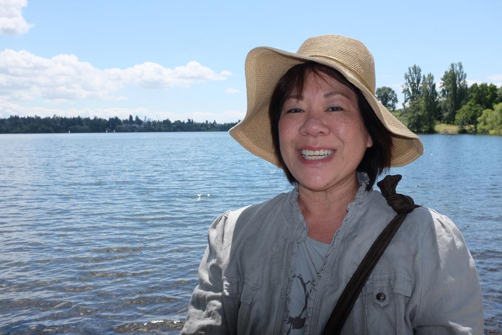 Gayle. Green Lake Park, Seattle.  Photo by Shishido.