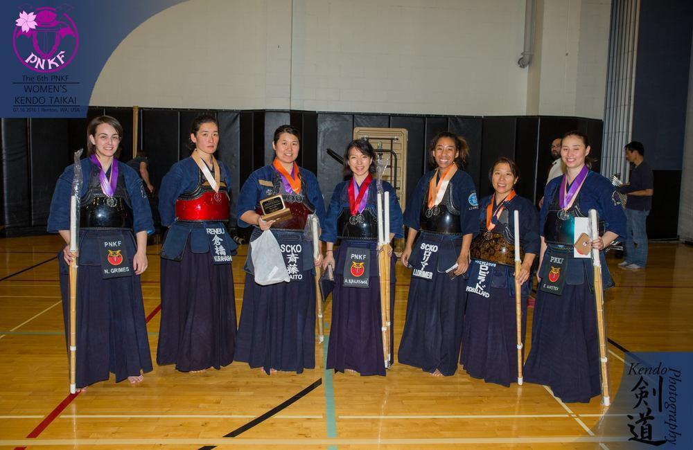 The individuals winners, yudansha division.
