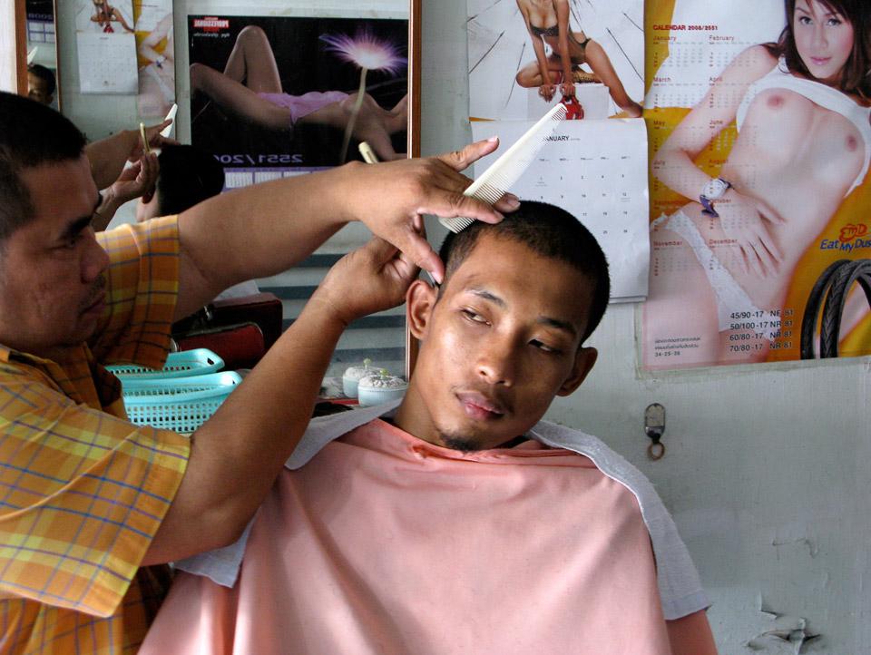 hairdresser , thai muang, thailand 2008