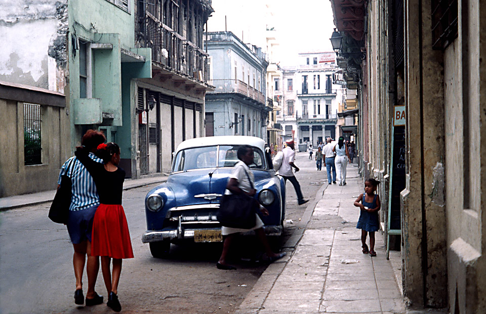 girl with red skirt, havanna, cuba 1999