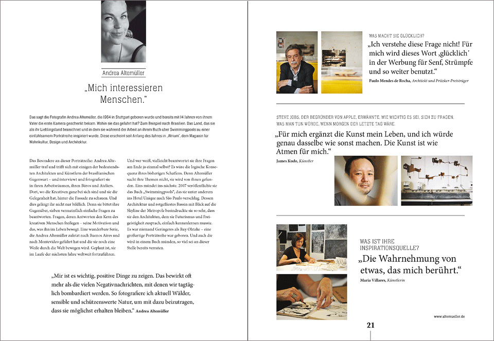 publication about  the artist portraits  in the fashion magazine   season  #11   2014