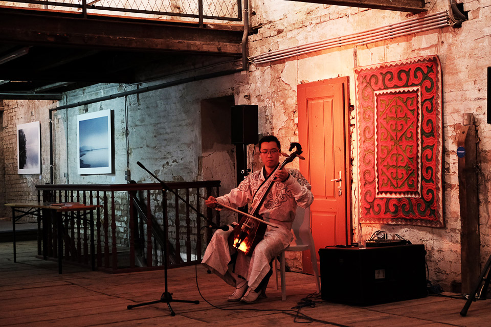 zacherlfabrik, vienna, austria  • horse headed fiddle with the mongolian musician Javkaa