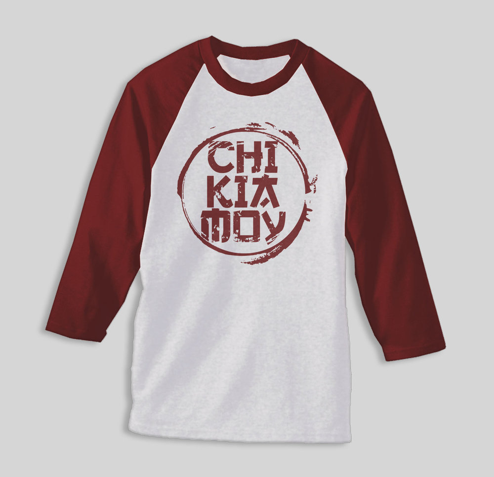 Limited Edition Baseball T-shirt with 3/4 sleeves Color:  Maroon   ON SALE  € 23 - Sizes Left:  L, XL, XXL