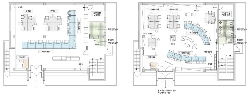 1F PLAN BEFORE / AFTER