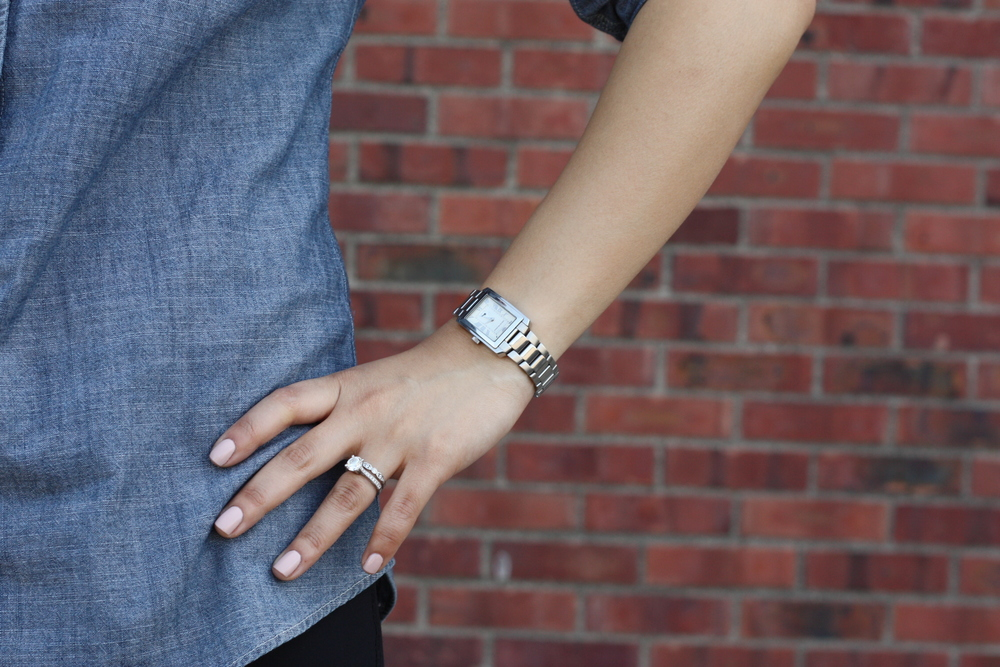 watch: emporio armani, nails: essie topless&barefoot + rockcandy