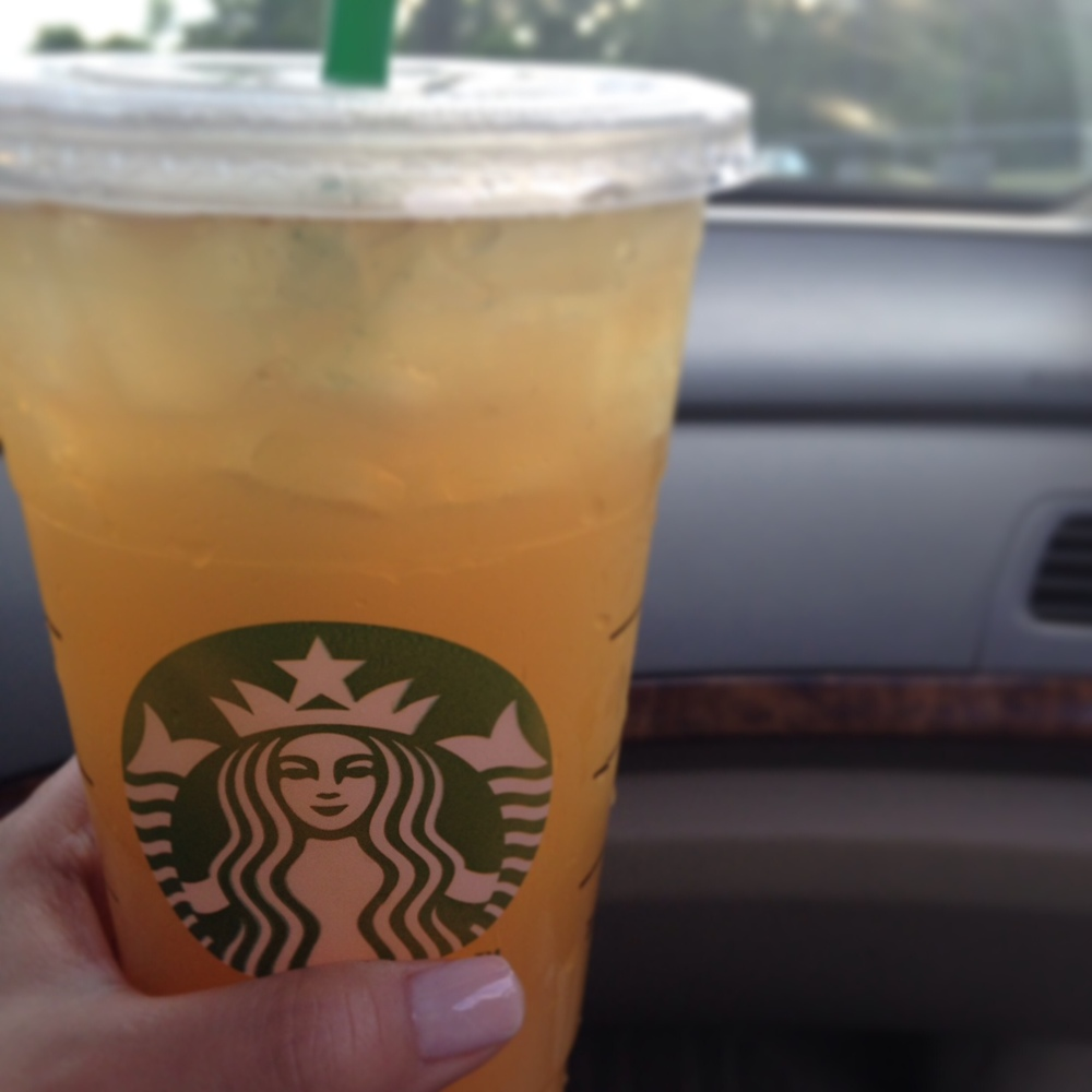 recharged by: a refreshing drink, my new favorite, green tea lemonade