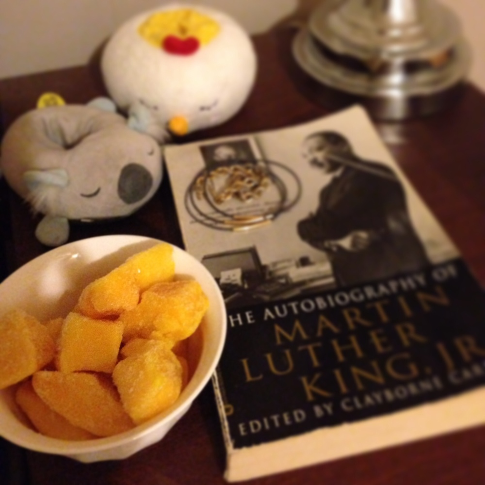 frozen mangoes. a nighttime snack.