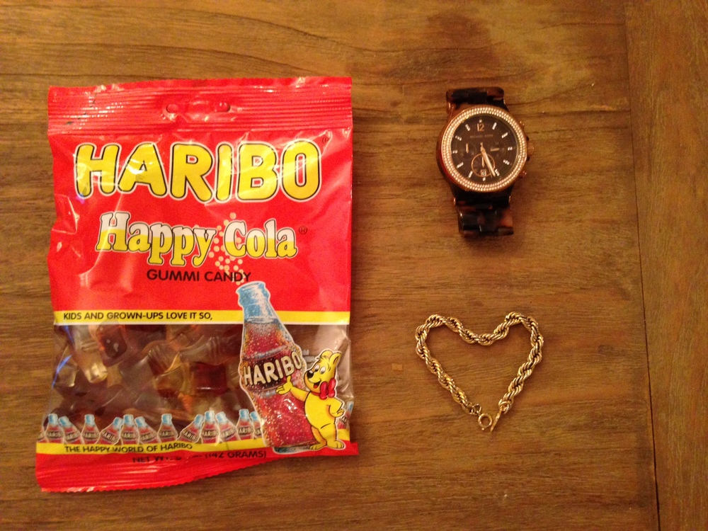 a few random favorites. my current favorite candy, watch and bracelet.