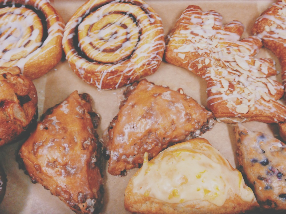 "delicious pastries from last weekend's ""Work & Faith"" ministry event"