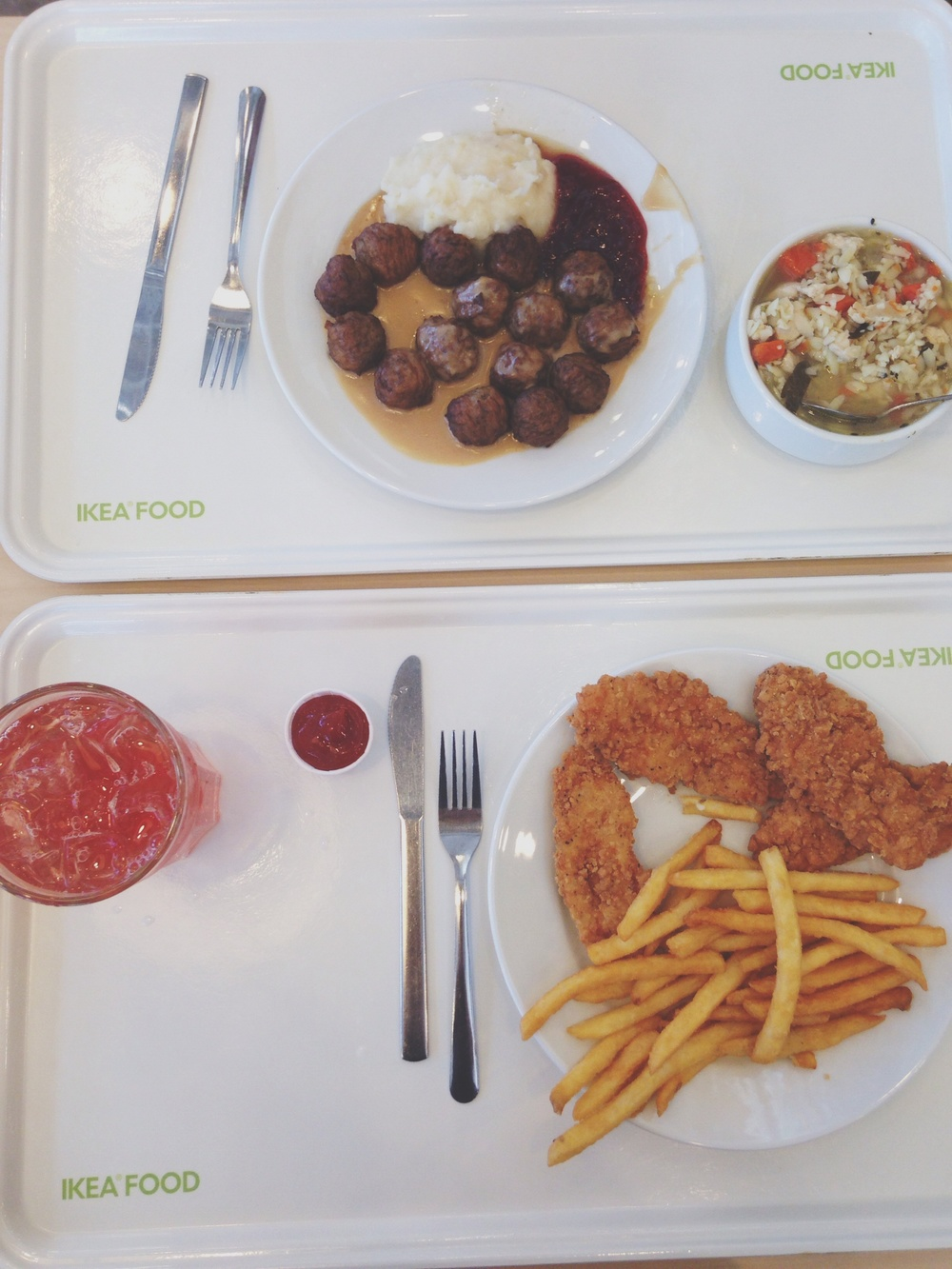 Last weekend, Y and I went to IKEA to pick up a few things and enjoyed this simple (&cheap) lunch.