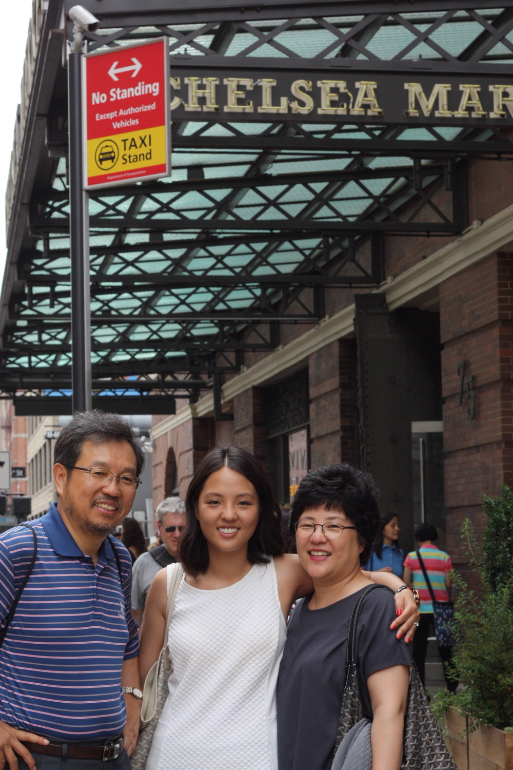 took my parents to one of our favorite places to explore:  chelsea market