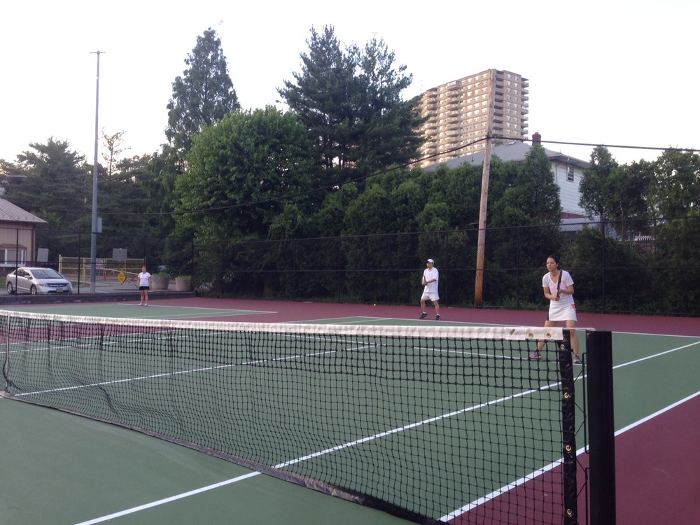 This year, my dad and I played together in our church's co-ed tennis tournament for the first time!