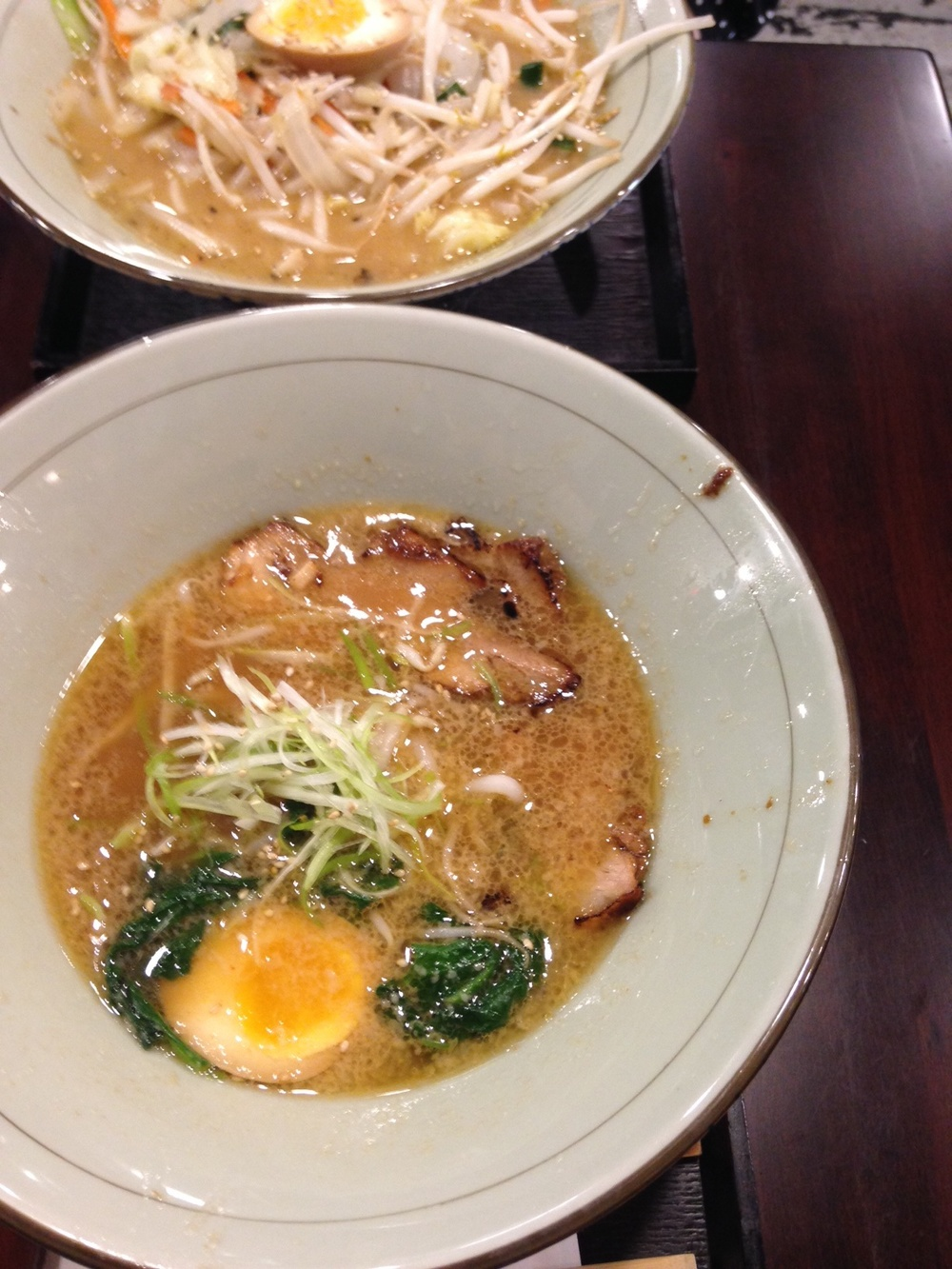 Exploring a new ramen joint with J unni. I devoured my ramen.