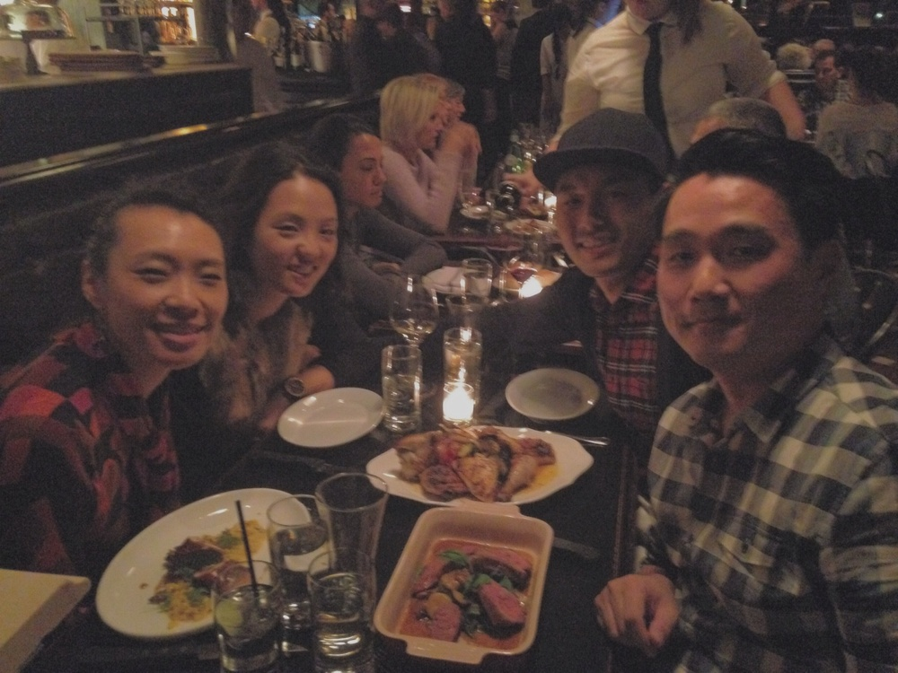 Enjoying a delicious meal with amazing people @LocandeVerde. (I must've missed the plaid memo...)