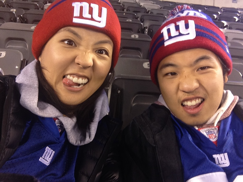 The brother and I at our first Giants game thanks to our friend S.