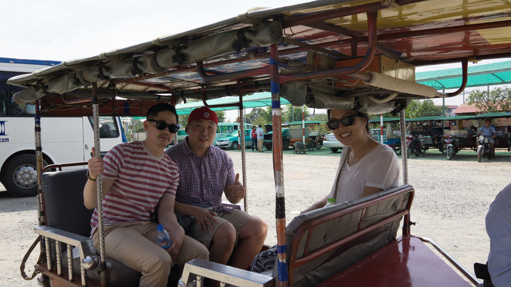 Tuk tuks: our mode of transportation