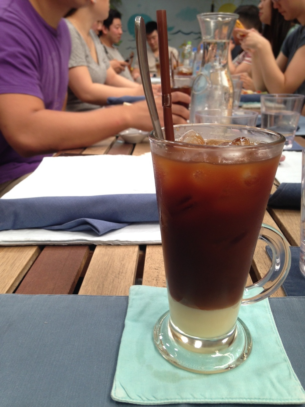 Khmer iced coffee!